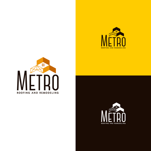 Remodeling design with the title 'Kickass logo for metro roofing and remodeling'