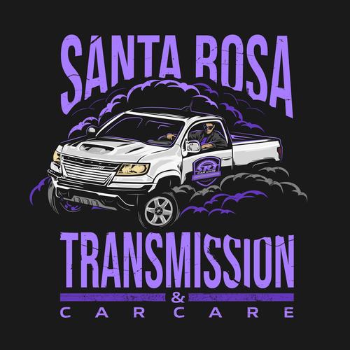 Automotive t-shirt with the title 'Santa Rosa Transmission & Car Care'