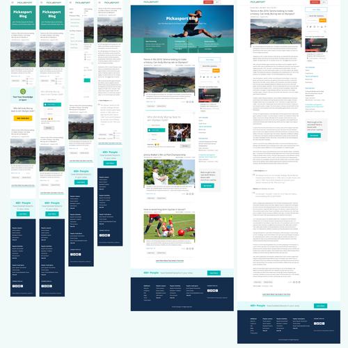 Tennis design with the title 'Pickasport blog'