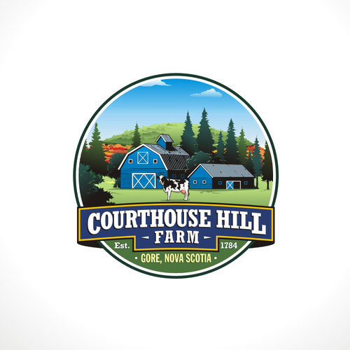 Hill logo with the title 'Courthouse Hill Farm'
