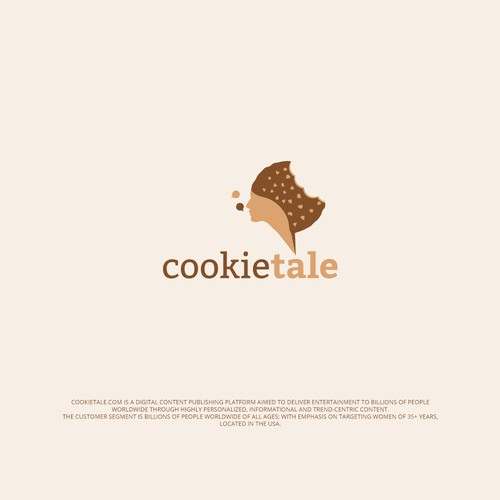 "Publication design with the title 'Logo for ""CookieTale""'"