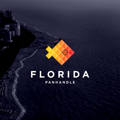 Travel logo with the title 'florida'