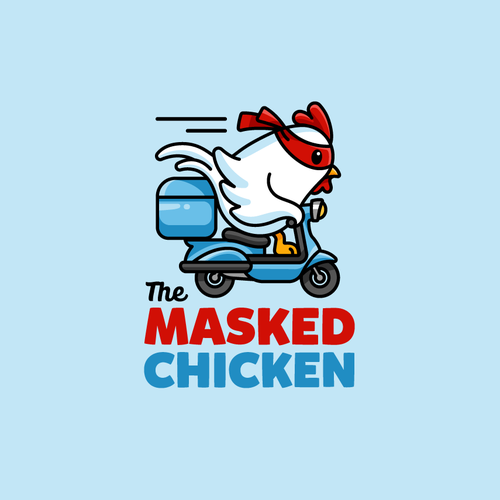 Chicken design with the title 'The Masked Chicken'
