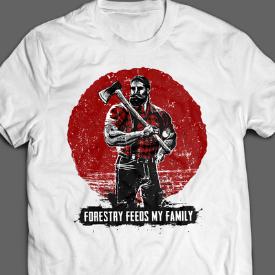 Big Bearded Lumberjack T-shirt