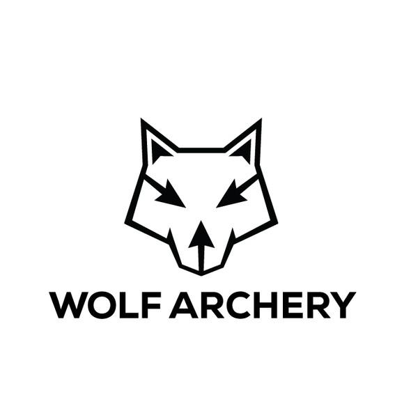 Arrow logo with the title 'Wolf Archery Logo'