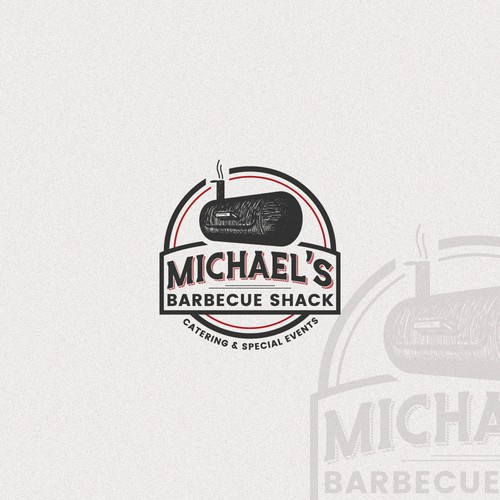 Craftsmanship logo with the title 'Crafted logo concept for BBQ restaurant'
