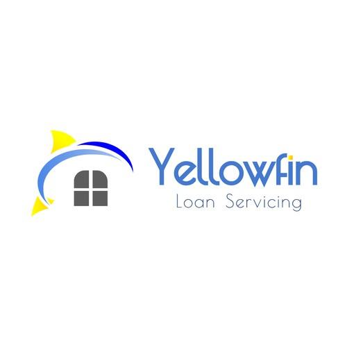 Loan logo with the title 'Yellowfin Loan Service Logo'