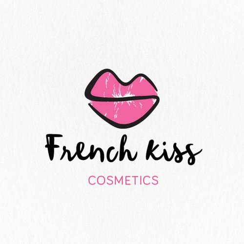 Feminine design with the title 'One line lip logo'
