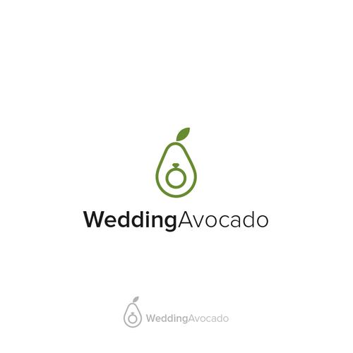 Avocado design with the title 'Wedding Avocado'