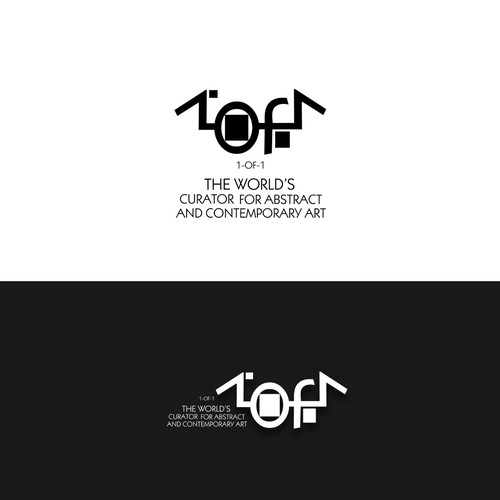 Interesting logo with the title 'Abstract logo concept. Art theme.'