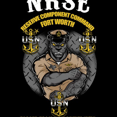 USN panther T-shirt design
