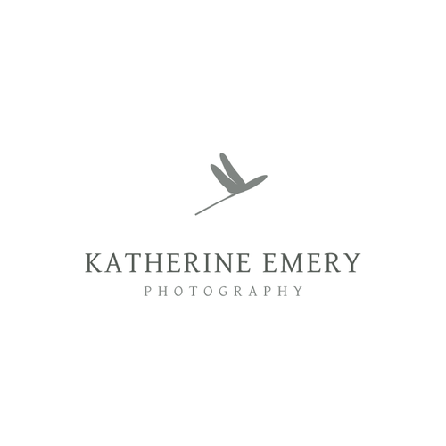Dragonfly logo with the title 'New logo wanted for katherine emery'