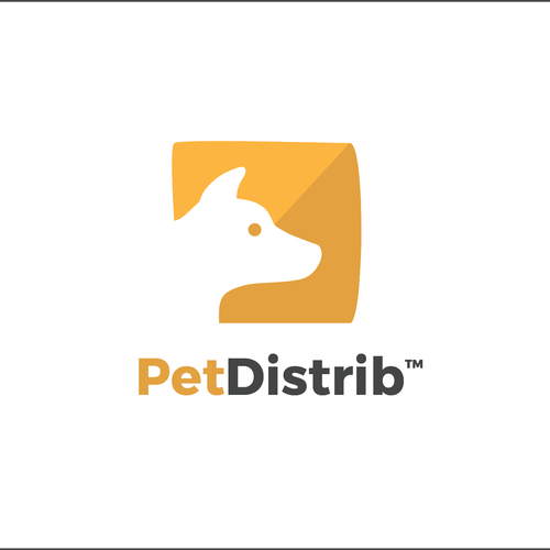 Pet shop logo with the title 'Logo concept for a start up Pet Store'