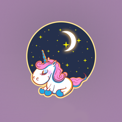 Logo artwork with the title 'Unicorn Logo Design Concept'