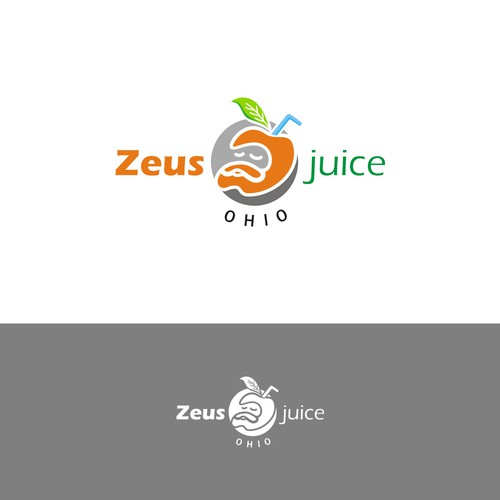 Zeus logo with the title 'Hand draw logo for juice'