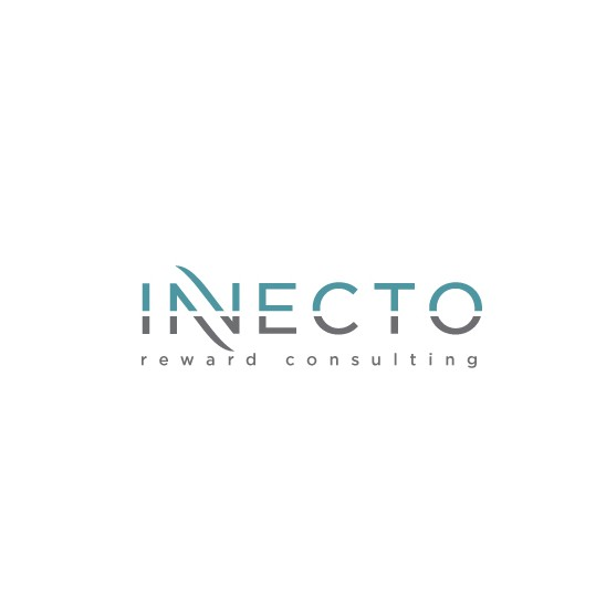 Gray and blue design with the title 'Logo design for Innecto'