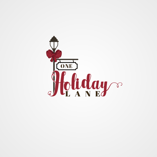 Online shop design with the title 'Holiday Store Logo'