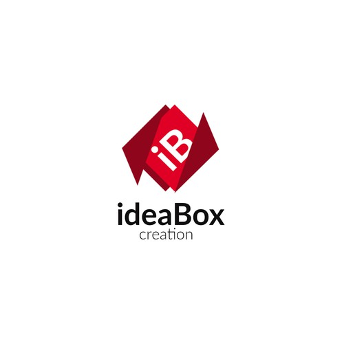 Burgundy logo with the title 'ideaBox logo'