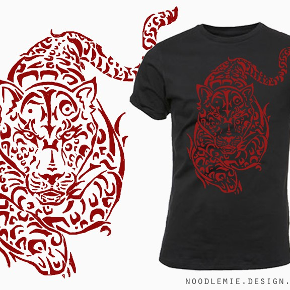 Tribal illustration with the title 'Help Clothing Line with a new illustration'