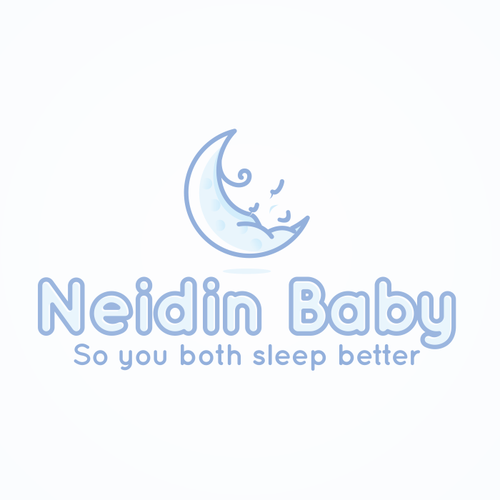 Pillow logo with the title 'Logo for Neidin Baby'