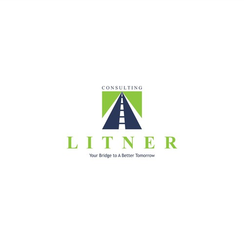 Road brand with the title 'Litner Consulting logo concept'