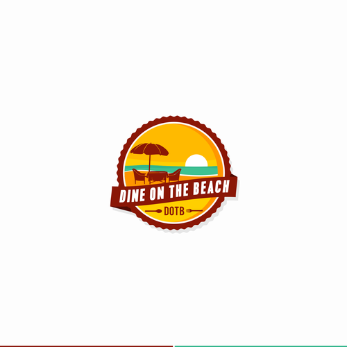 Pictorial logo with the title 'pictorial beach logo'
