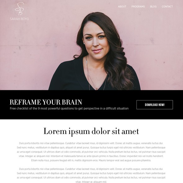 Coaching website with the title 'New branding website for neuroleadership expert'