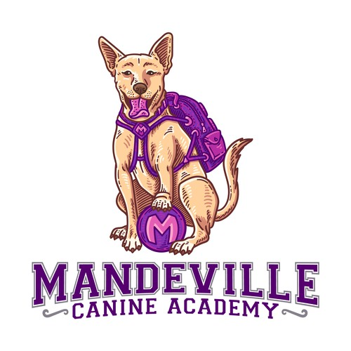 Academy logo with the title 'Manderville Canine Academy'