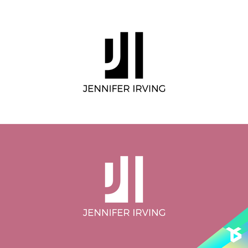 Gestalt design with the title 'Logo for Jennifer Irving'