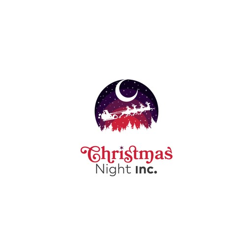 Santa Claus logo with the title 'Christmas Night Inc.'
