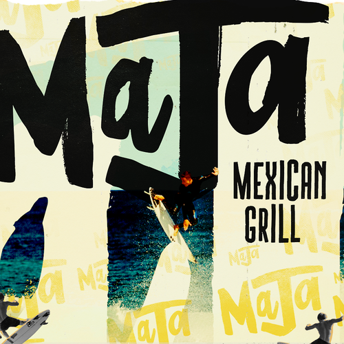 Mexican logo with the title 'Maja Mexican Grill Logo'