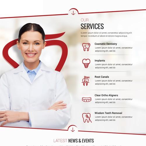 Dental website with the title 'Dental Care Website'