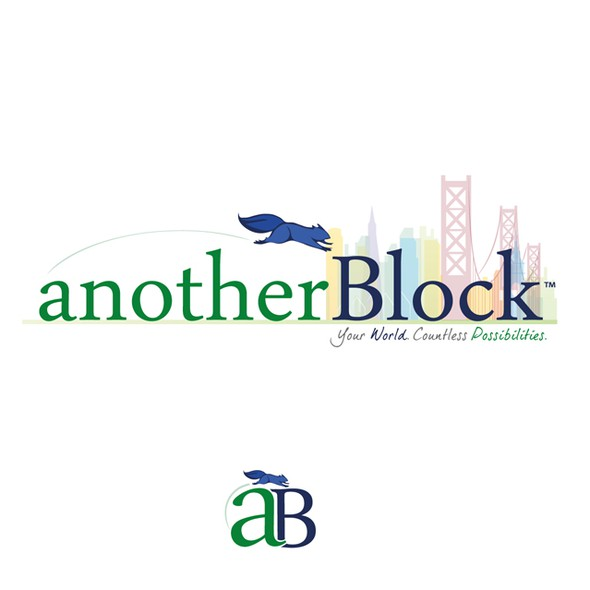 Alive design with the title 'anotherBlock Logo Design'