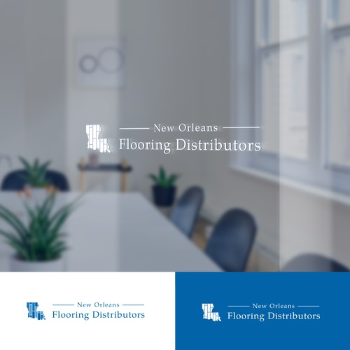 Distribution logo with the title 'Creative logo for a flooring distributor'