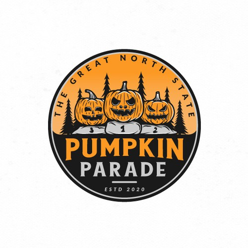 Halloween design with the title 'Logo design for The Great North State Pumpkin Parade'