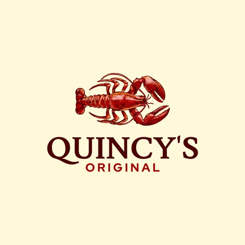 Lobster logo with the title 'Quincy's Original'