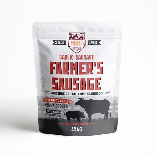 Smoke packaging with the title 'Sausage packaging'