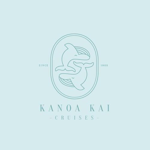 Hipster brand with the title 'Kanoa Kai Cruises Logo'