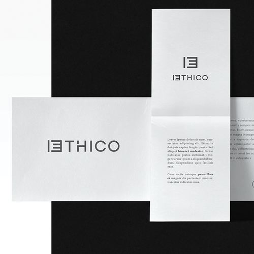 Stylized design with the title 'ETHICO'