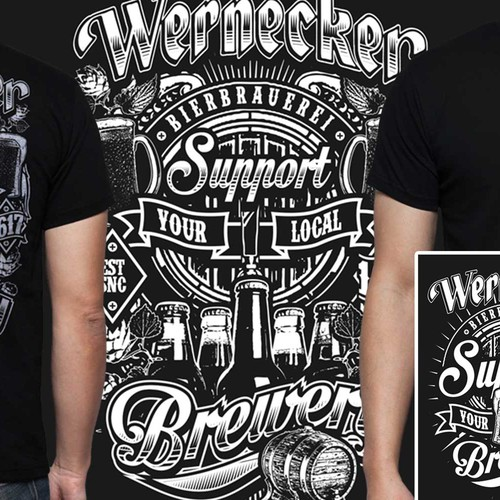 Beer t-shirt with the title 'WERNECKER T SHIRT'