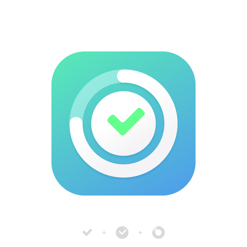 Task design with the title 'App icon design for Focus Better'