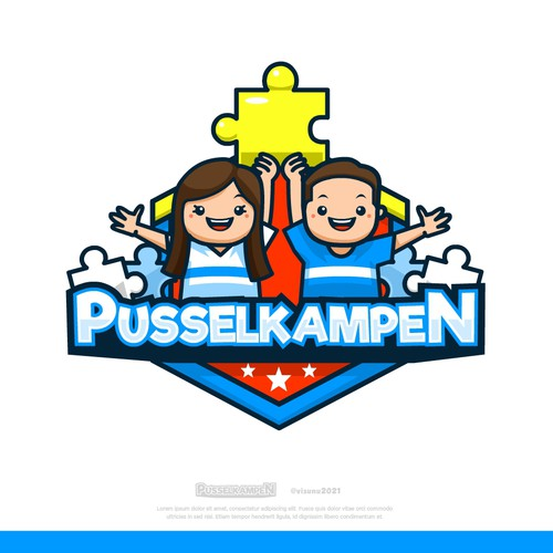 Puzzle design with the title 'Pusselkampen'