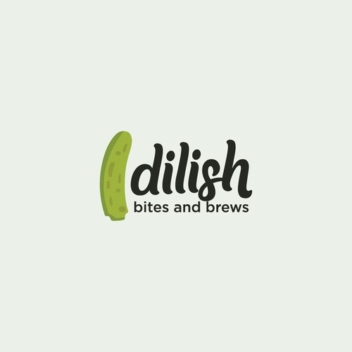 Pickle logo with the title 'Dilish Logo (Food & drink Company)'