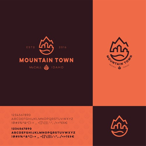 City design with the title 'Mountain Town'