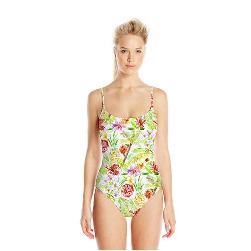 Print artwork with the title 'Swimwear Tropical Print  Pattern'