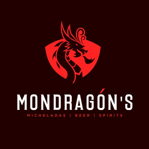 Red logo with the title 'Mondragòn's'