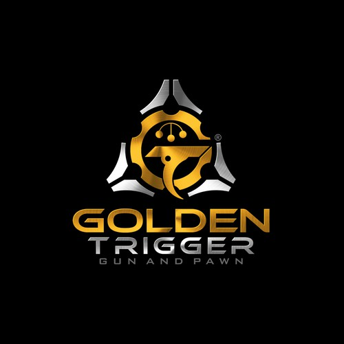 Army logo with the title 'Logo design for Golden Trigger'