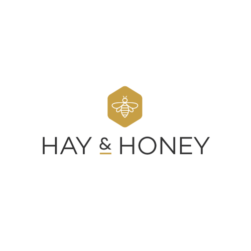Country logo with the title 'Simple logo with farmhouse charm for Hay & Honey'