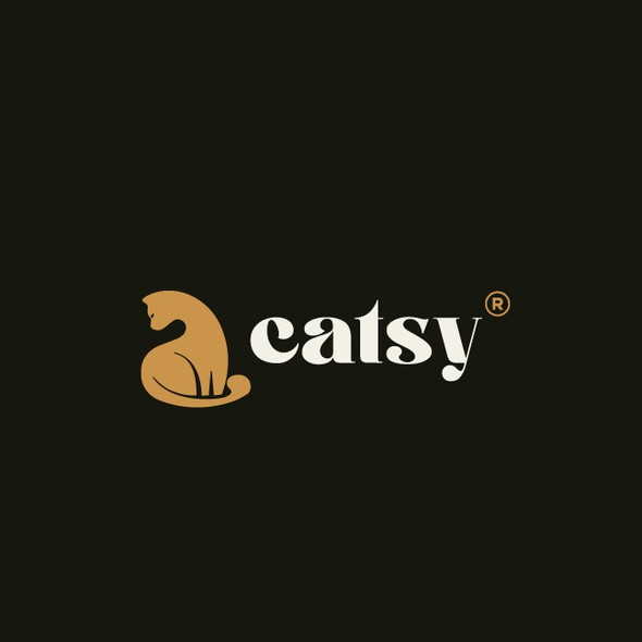 Pet store logo with the title 'Logo design for the Cat Store'