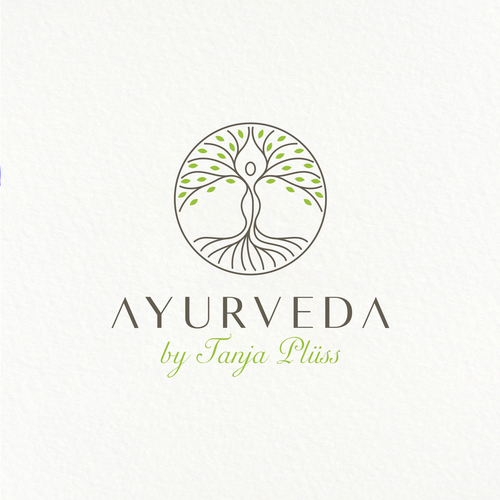 Ayurveda design with the title 'Logo Design Concept for Ayurveda'